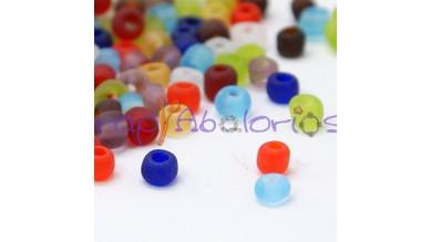Rocalla cristal, 2 mm colores mates (25 gramos)
