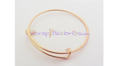 Base de pulsera oro rosa expandible Caña 60 mm
