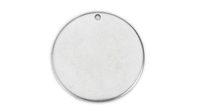 Colgante ZAMAK baño plata moneda  para grabar 39x39 mm