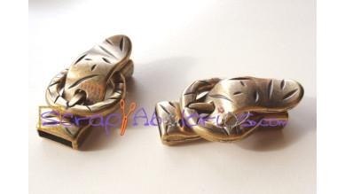 Cierre Zamak bronce hebilla pequeña para tira 10 mm