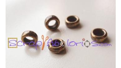 Anilla cerrada Zamak bronce 5.5 mm, taladro 3 mm- 5 uds