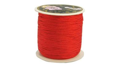 Bobina de cordon de nylon 0.8 mm macrame rojo ( 120 m)