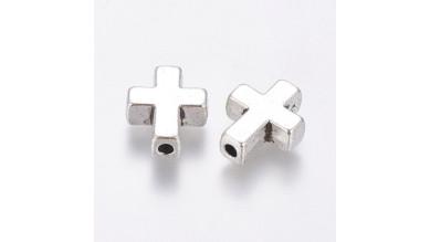 Entrepieza Cruz metal 15x12 mm, tal 2 mm - 5 pcs