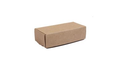 Cajita rectangular carton kraft- Tamaño 12.5x6 cm