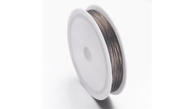 Hilo de acero plateado fino, grosor 0.45mm, 50 metros