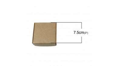 Cajita de cartón desmontada 7.5x7.5 cm- Kraft