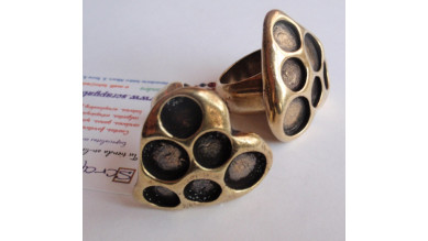 Base anillo ZAMAK bronce Modelo corazon 32x32x30 mm
