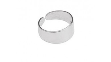 Base anillo ZAMAK baño plata 17 mm ajustable ideal grabar