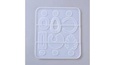 Molde silicona tamaño 16x14 cm -12 piezas diferentes