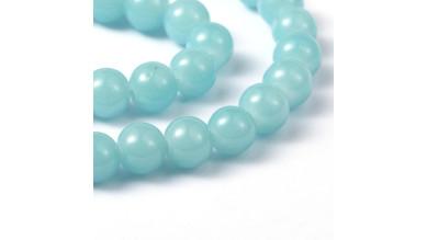 Hilera bolas de gema Jade Sintetico 4 mm color Turquesa ( 200 pcs aprox.)