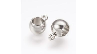 Portacolgante de acero inoxidable con anilla enganche 9x6 mm, int 4 mm