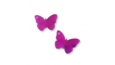 Plexy fucsia - Colgante mariposa 20 mm, int 1.2 mm