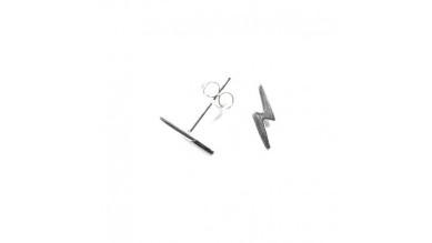 Pendiente plata de ley - Rayo 11x4 mm (1 par)