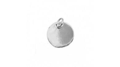 Colgante medalla Plata de Ley lisa para grabar 10 mm con anilla