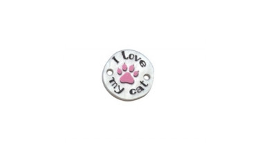Entrepieza plexy redondo I Love my cat - 15 mm