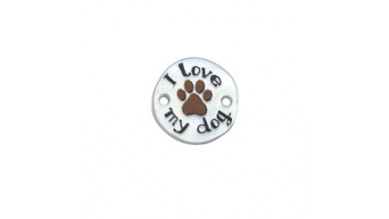 Entrepieza plexy redondo I Love my dog - 15 mm