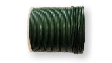 Cordón cuero color verde botella 1.5 mm ( 1 metro)
