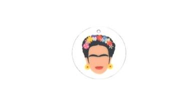Frida - Colgante plexy moneda 25 mm