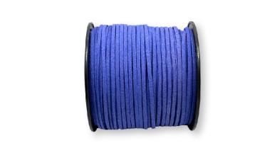 Cordón de antelina 2.5 mm azul medio  (1 metro)