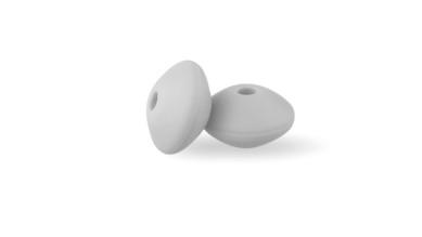 Lenteja de silicona 12x6 mm- Color Gris claro 36