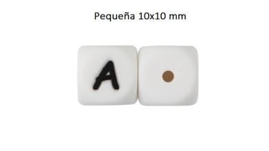 Cubo letra silicona 10x10 mm- Premium - Letra A
