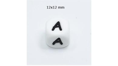 Cubo letra silicona 12x12 mm- Premium - Letra A