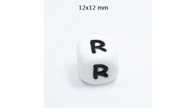 Cubo letra silicona 12x12 mm- Premium - Letra R
