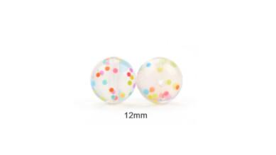 Confetti - Bola de silicona 12 mm ( nuevos colores)