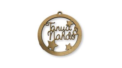 Bola de Navidad 9 cm - Con 2 nombres personalizado POR ENCARGO  (15 días aprox)