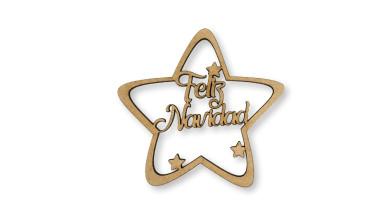 Feliz Navidad - Estrella de Navidad 9 cm
