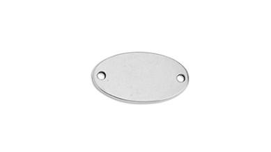 Entrepieza Zamak baño plata 21x12 mm chapa oval lisa para grabar