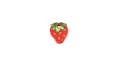 Fruta fresa - Colgante de plexy 12x10 mm