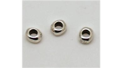 Entrepieza rondel zamak baño plata 6 mm, int 3 mm