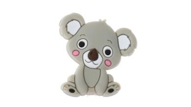 Koala sentado de silicona 27x28 mm- Color gris claro